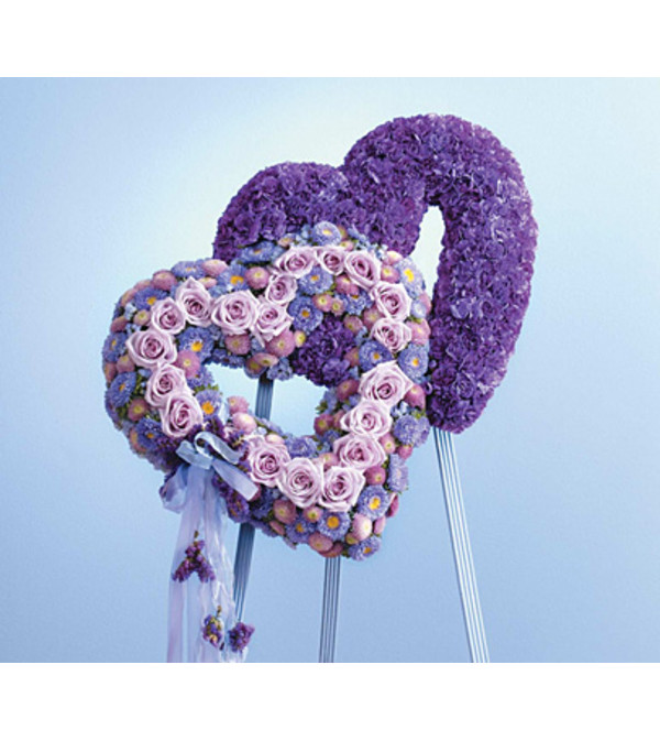 Blue and Lavender Double Heart