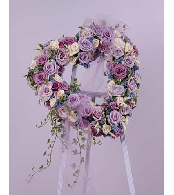 Lavender Rose Heart  SF42-11