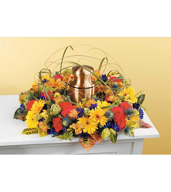 Sympathy Wreath Urn