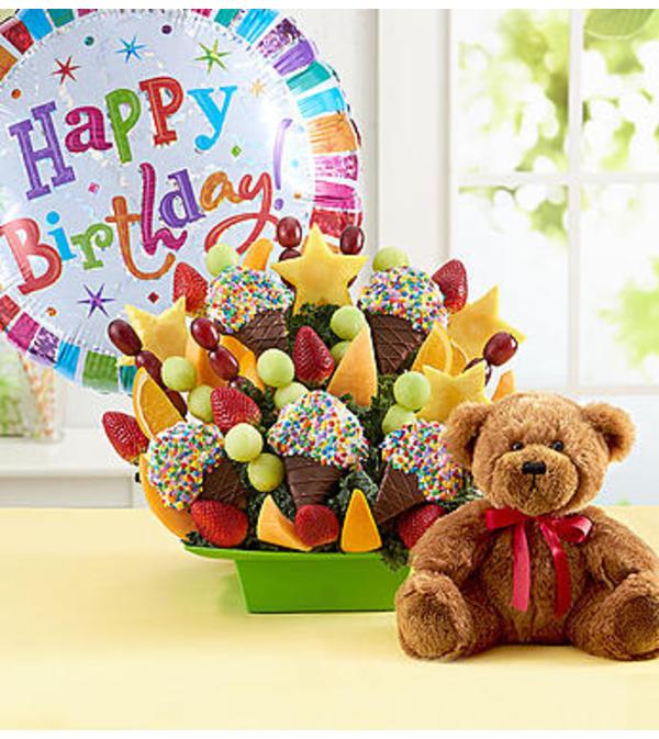 Delightful Dipped Treats W/Bear & Chocolates