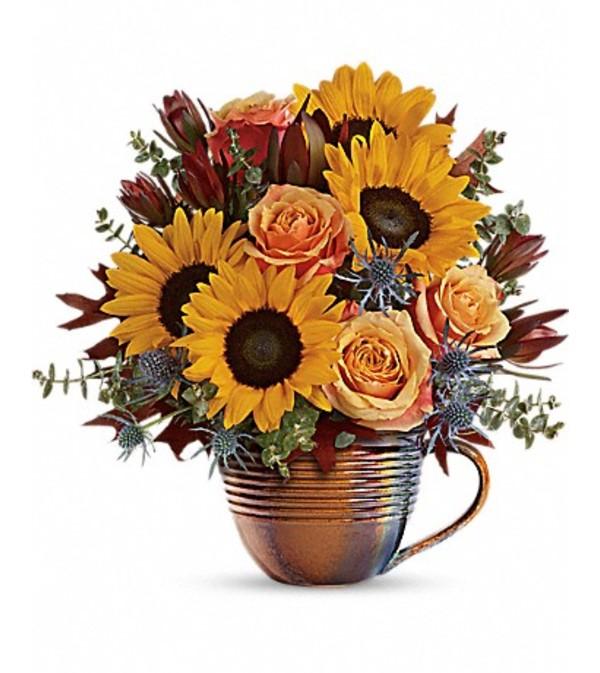 Teleflora's Golden Gratitude Bouquet
