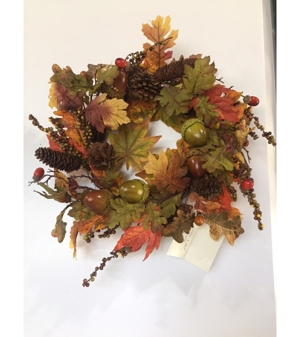 Acorn and Leaf Wreath