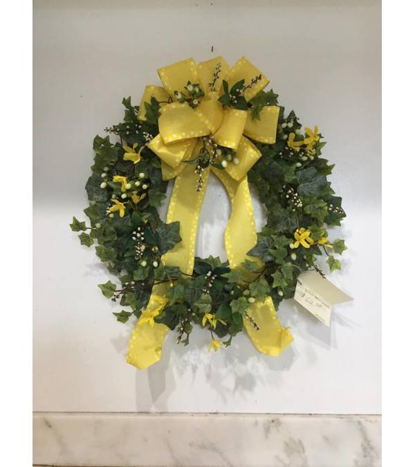 Yellow Bow Wreath
