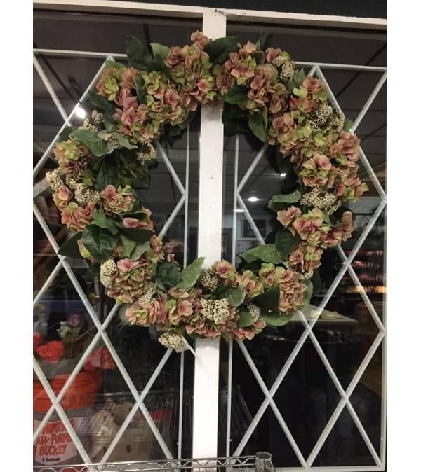 Hydrangea and Rice Flower Wreath