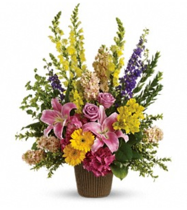 Celebrated Glory Basket Arrangement