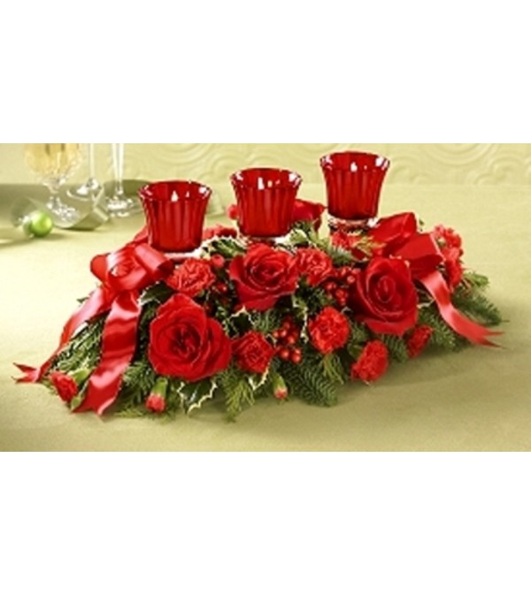 TRIPLE VOTIVE CENTERPIECE