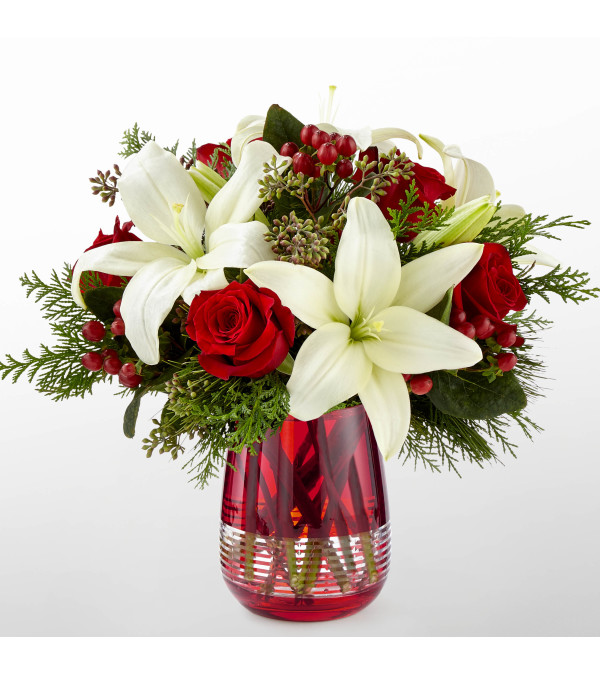 The FTD® Festive Holiday™ Bouquet By Vera Wang