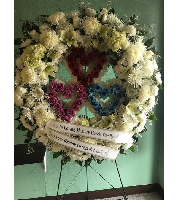 Trio Heart Wreath