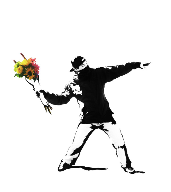 "FLOWER BOMBER - THE ""BANKSY"" WRAP OF FLOWERS"