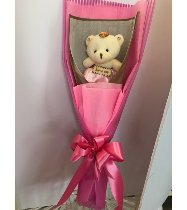 I Love You  teddy bear bouquet