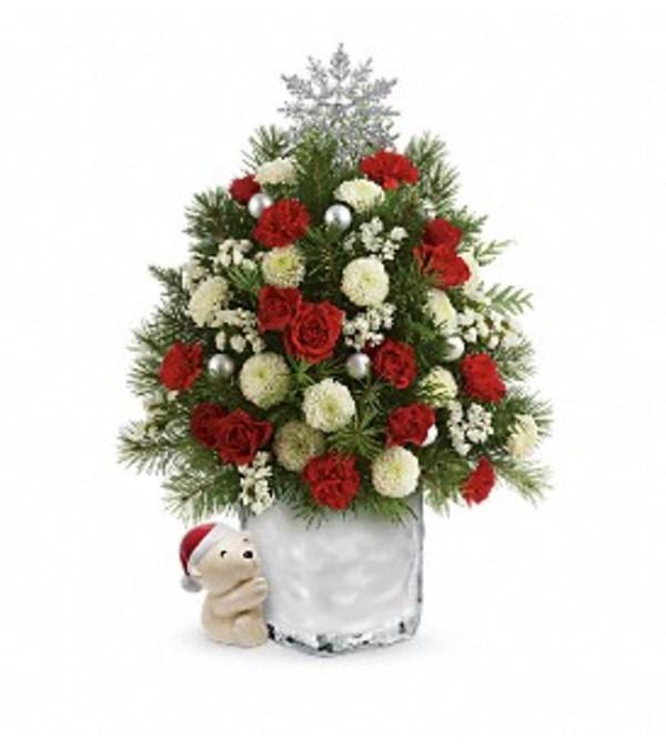 Teleflora Christmas 2019 Teleflora S.A Hug cuddly Christmas Tree   Elgin, IL Florist