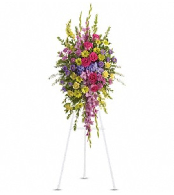 Bright and Beautiful Spray - by Jennifer's Flowers