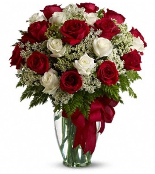 Love's Divine Bouquet - 24 Stemmed Roses