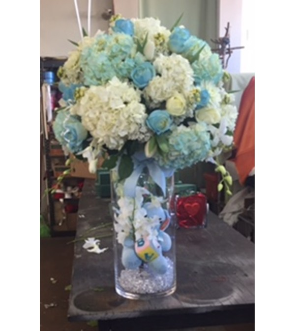 Baby Boy Arrangement Commerce Ca Florist