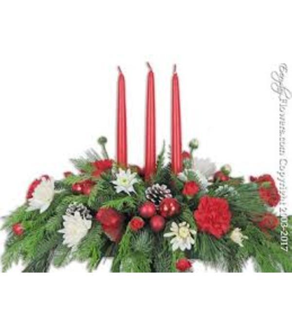 Triple Candle Centerpiece