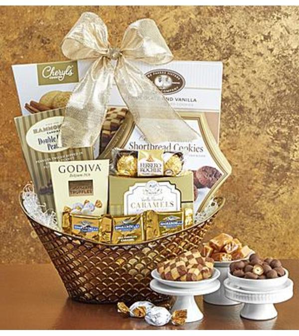 Gilded Splendor Gift Basket