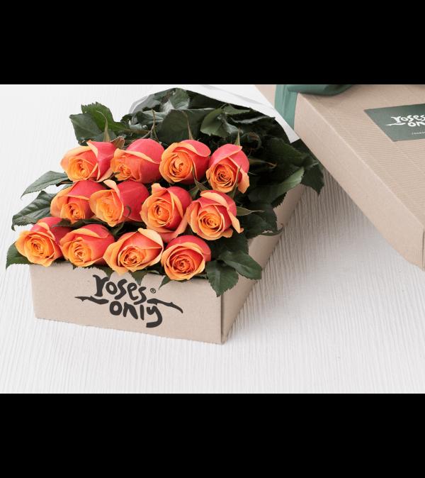 One Dozen Orange Roses