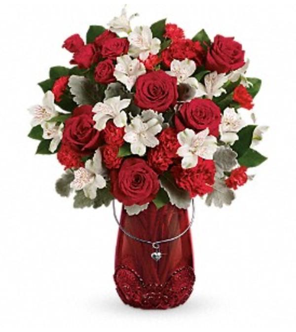 Red Haute Vase