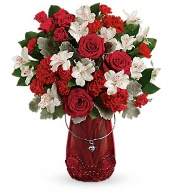 Teleflora - Red Haute bouquet