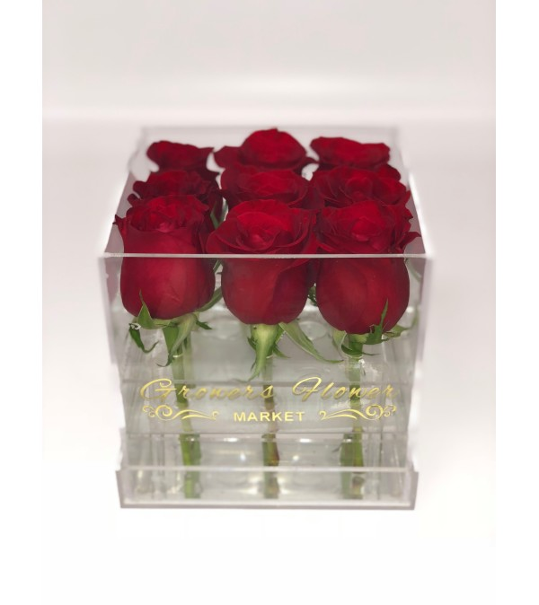 Acrylic Box with premium Roses