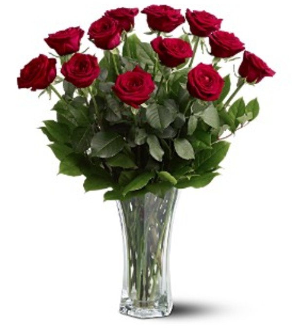 Classic Red Roses Arranged