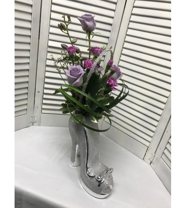 Glitter Shoe Bouquet