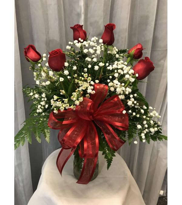 Ellingtons 6 Red Roses
