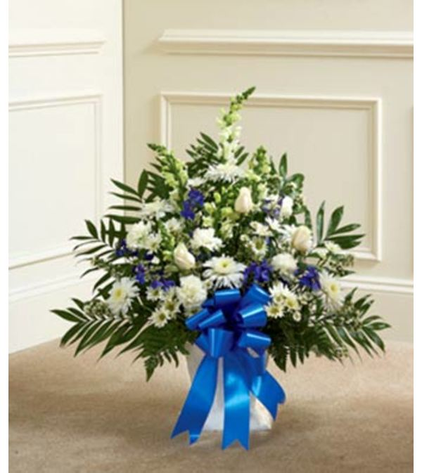 Blue and White Sympathy Basket