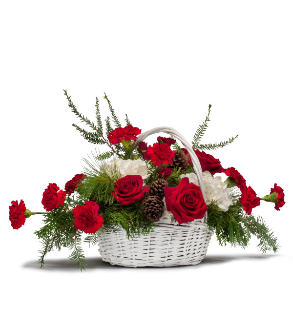 Holiday Basket Bouquet