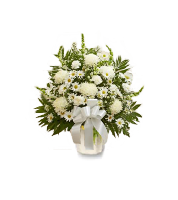 Blessings White Sympathy Basket