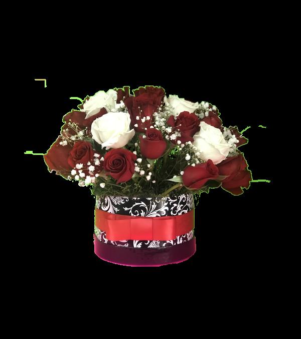 Flower Box Reda & White