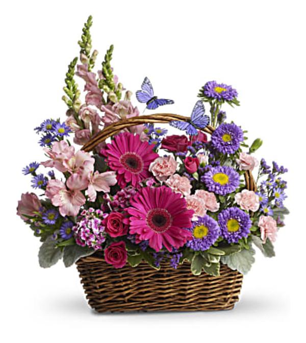 Teleflora Country Basket Blooms
