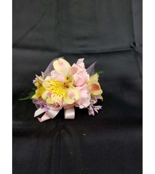 Pinks & Yellow Corsage