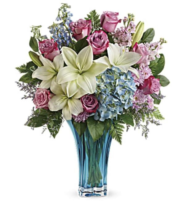 Black Iris Heart's Pirouette Bouquet