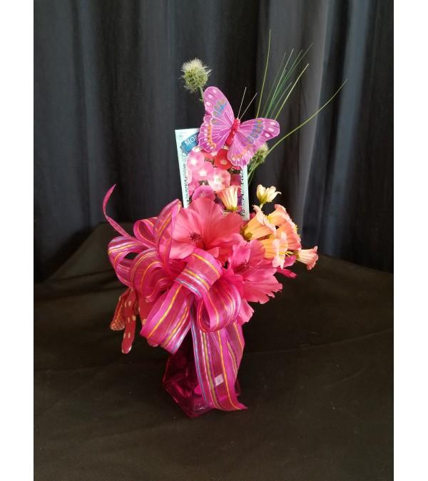 Garden Basket Pink Lanten