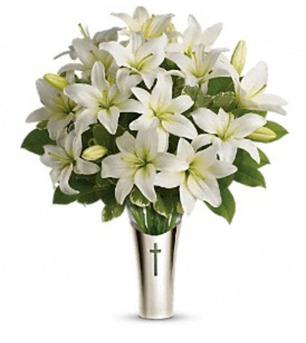 Sacred Cross Sympathy Bouquet