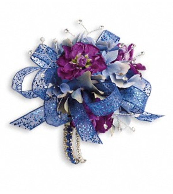 Feel The Beat Blue Corsage