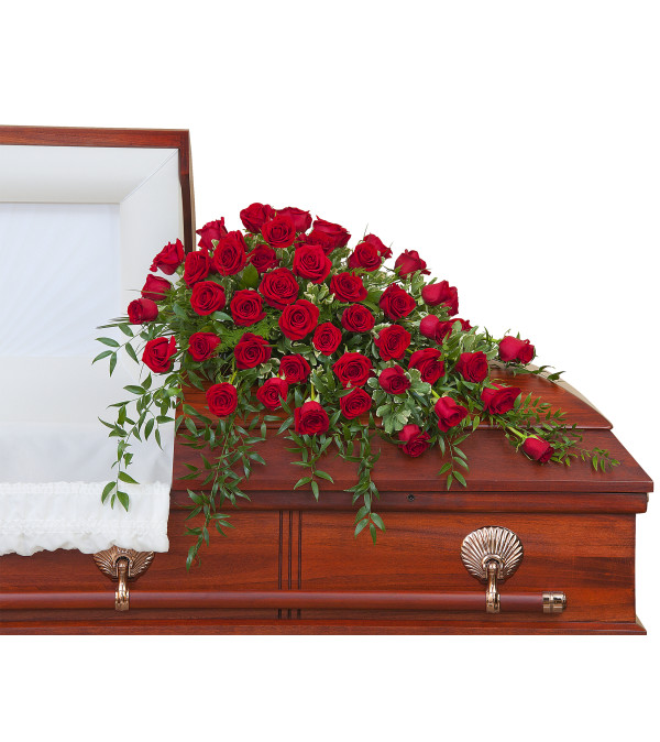 Simply Roses Casket Spray DW