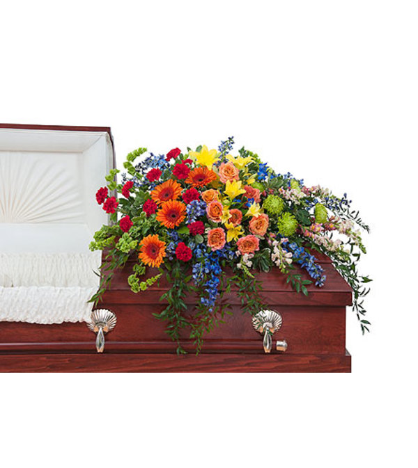 Teleflora - Treasured Celebration Casket Spray