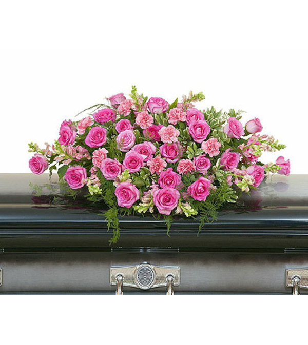 Teleflora - Peaceful Pink Casket Spray