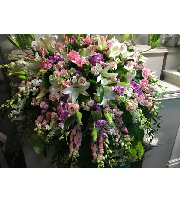 Breathtaking Pastel Casket Spray