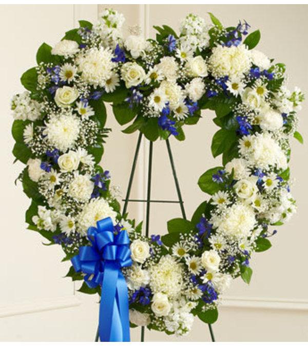 White & Blue Heart Tribute