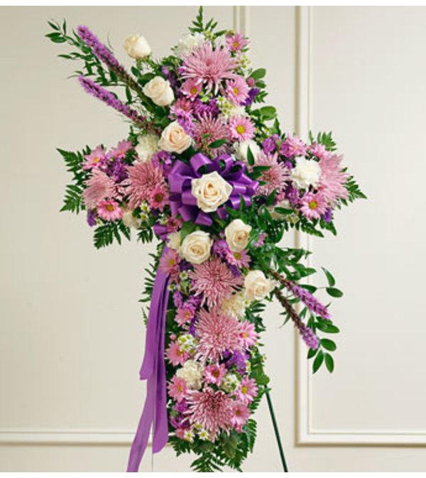 Lavender & White Cross Tribute