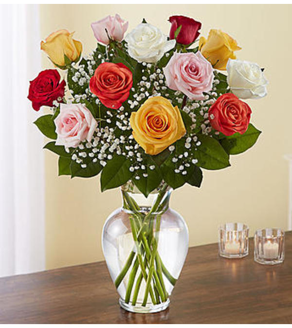Assorted Roses One Dozen