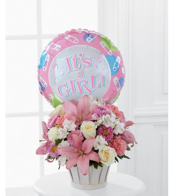 Girls Are Great! Basket Bouquet