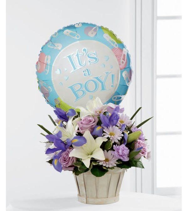 Boys Are Best! Basket Bouquet