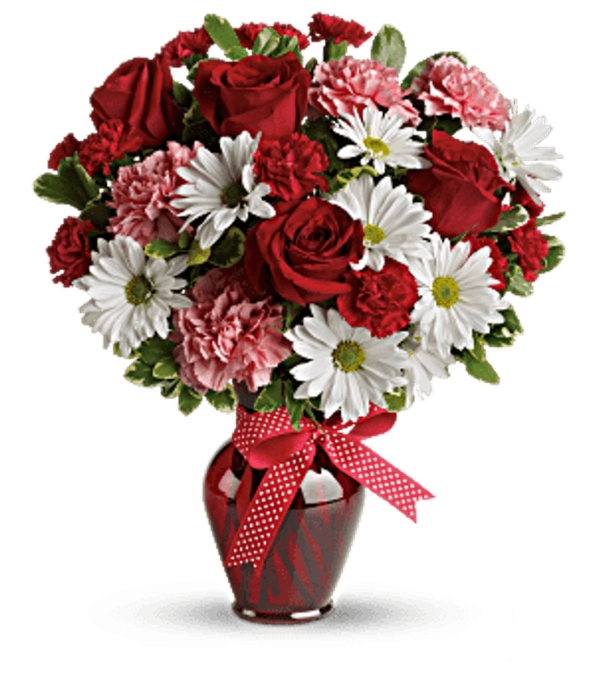 The Hugs And Kisses Bouquet With Red Roses