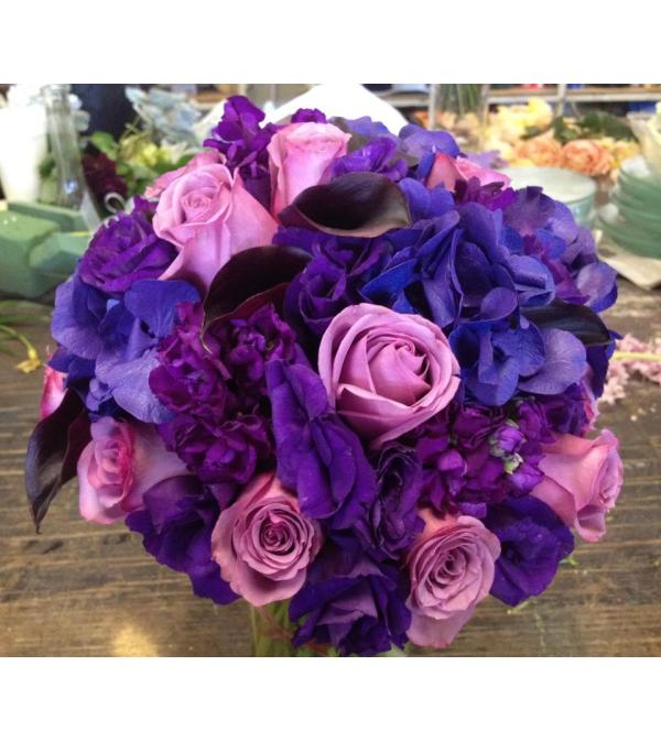 all purple bridal bouquet 59
