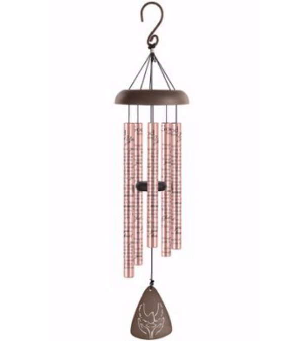 "God Has You 30"", Rose Gold Sonnet Wind Chime"