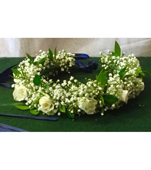 all white head wreath